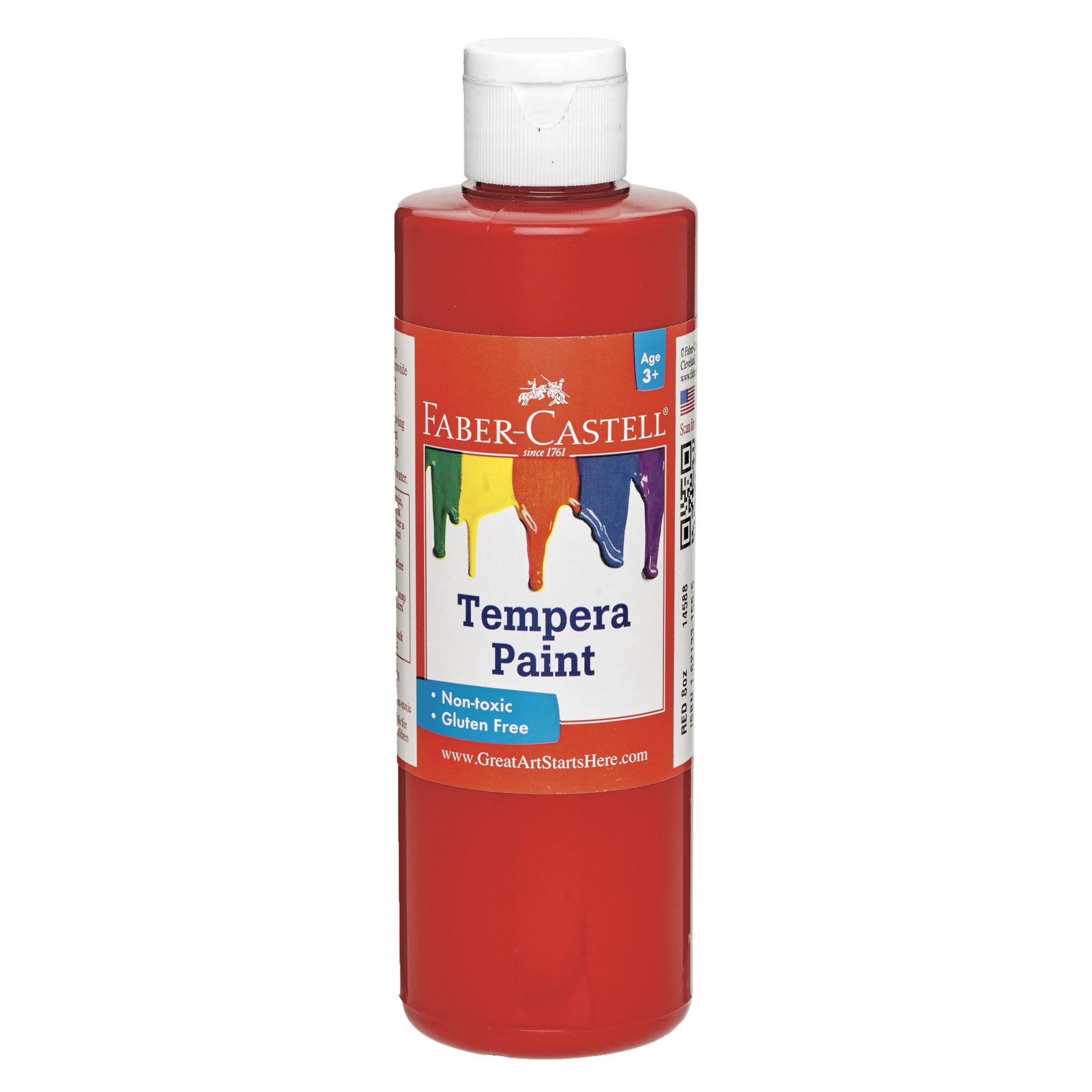Faber-Castell Red Tempera Paint 8 oz