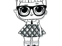 Lol Dolls Coloring Pages Doll Collection Color Me Free Surprise