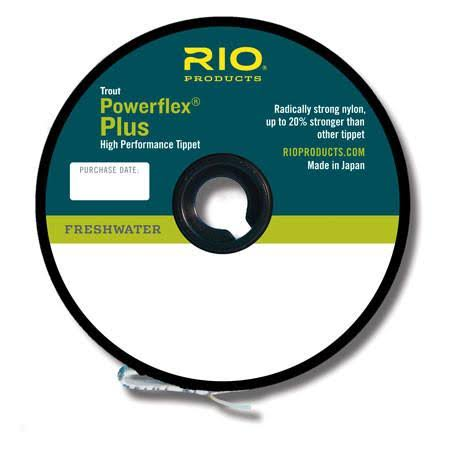 RIO Fly Fishing Tippet Power Flex Plus 5X Tippet Fishing Tackle - Clear, 50yd
