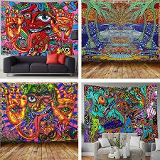 moderne psychedelische trippy tapisserie hippie wohnzimmer