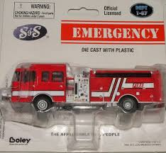 100 Boley Fire Trucks 187 SS Flat Nose Top Mount Pumper FIRE TRUCK RED