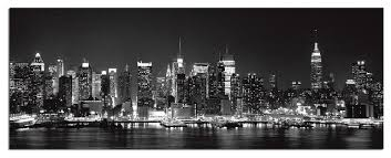 New York Wall Art Tempered Glass City Skyline 1