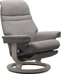 stressless relaxsessel mit classic base und power elektrisch verstellbar optional 2 motorisch größe m l gestell whitewash