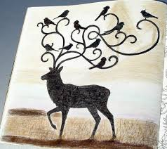Johanna Basford Enchanted Forest Coloring Primacolor Premiere Deer Stag Birds