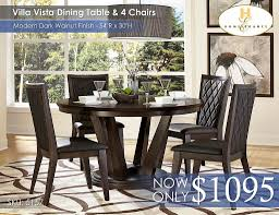 Ortanique Round Glass Dining Room Set by Dining Room Sets U2013 All American Mattress U0026 Furniture