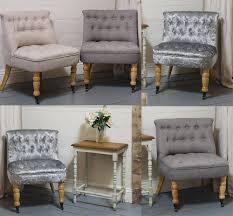 Details About Velvet Linen Occasional Accent Bedroom Cocktail Chair Button  Back Wooden Legs &