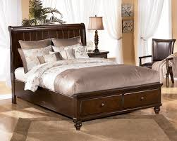 King Platform Bed With Leather Headboard by Bedroom Find Your Dream Bed At Ashley Furniture Sleigh Bed