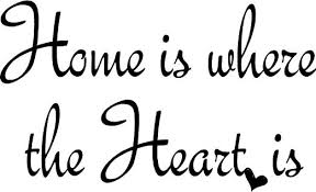 Home Is Where The Heart Quote Free Clipart
