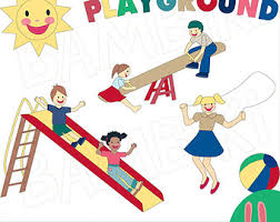 Playground clipart vintage Pencil and in color playground