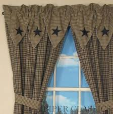 Country Curtains Sturbridge Hours by Primitive Decor Black Star Curtains Country Drapes And Panel