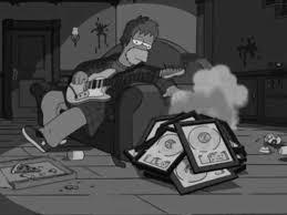 Black and White nirvana Grunge the simpsons homer pearl jam