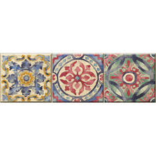 Moroccan Tile Curtain Panels by Wall Decals Wall Decor The Home Depot