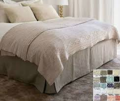 Box Pleat Bed Skirt by Linen Tailored Bed Skirt