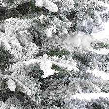 Artificial Christmas Trees Uk 6ft by Kaemingk Everlands Snowy Alaskan Flocked Christmas Tree 6ft
