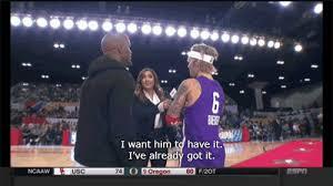 Justin Bieber Jamie Foxx NBA Celebrity All Star Game 2018 ESPN