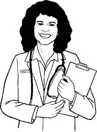 Female Doctor In Professions Coloring Pages