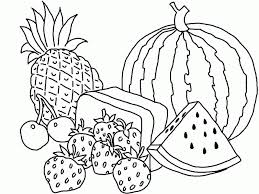 Colouring Pictures Of Fruit Basket Coloring Pages For Kids And
