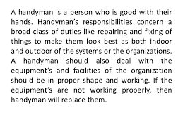 Handyman Resume Samples 2