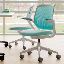 Aqua Cobi Desk Chair With White Frame | Modern Office ...