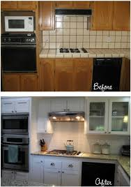 Before After Carolyns Yucky 1980s Kitchen