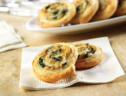 puff pastry canape ideas spinach cheese swirls puff pastry