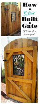 100 Building A Garden Gate From Wood Build A Side With A Decorative Window En Gates