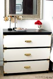 I Got 25 Lighters On My Dresser by Campaign Style Dresser Ikea Malm Makeover Homey Oh My