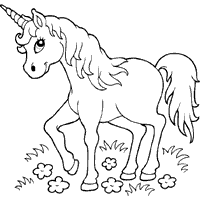 Thumbnail Image For Horned Horse Coloring BooksUnicorn Colouring PagesUnicorn