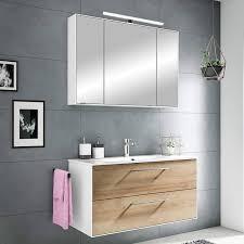 badezimmer waschplatz fes 3065 66 in weiß matt riviera eiche quer nb