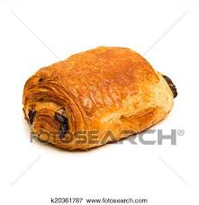 Pain Au Chocolat On White Background