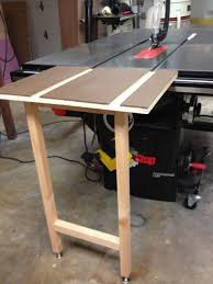 Sawstop Cabinet Saw Outfeed Table by Sawstop Table Saw Infeed Removable Stowable Folding Router Forums