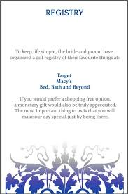 Bed Bath Beyond Baby Registry by Remarkable Baby Shower Registry Message To Guests 58 About Remodel