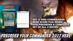 Premade Commander Decks 2017 by Commander 2017 Magic The Gathering Spoilers News U0026 Updates