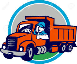100 Dump Truck Drivers Illustration Of A Driver Smiling And Driving With