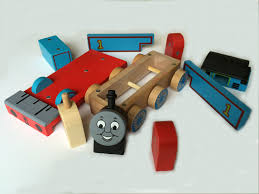 thomas and friends wooden toy train build like mega bloks and lego