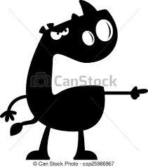 Cartoon rhino silhouette angry A cartoon silhouette of a clip