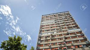 100 Belgrade Apartment Low Angle Shot Of An From Serbia Stock Photo