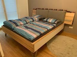 hochwertiges schlafzimmer bett schrank massivholz