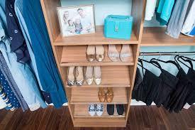 simple wood shelf and rod