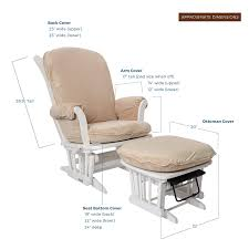 Luxe Basics Cover Me Glider Chair Cover, Caramel: Amazon.co.uk: Baby