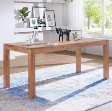 esstisch massivholz mumbai akazie 120 cm esszimmer tisch holztisch design küchentisch landhaus stil dunkel braun möbel und schönes