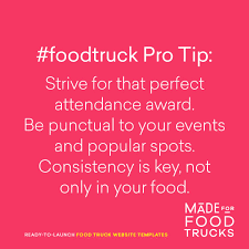 Foodtruck Pro Tip: Strive For That Perfect Attendance Award. Be ... Example 8 Food Truck Website Template Godaddy Qsr Magazine Features Kona Dog Franchise 7 Websites On The Road To Success Plus Your Chance Win Big Best Wordpress Themes 2016 Thememunk At G Building Lakeshore Humber Communiqu Foodtruck Pro Tip Strive For That Perfect Attendance Award Be Website Design Behance Find Bangkok Trucks Daily Locations On Their New Our Inspirational Simple Math Rasta Rita Is Beautify Created Creative Restaurant Theme