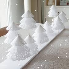 diy une forêt de sapins en napperons de papier studio paper