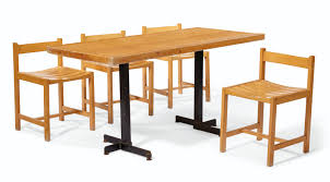 CHARLOTTE PERRIAND (1903-1999) | A PINE DINING TABLE ... Ding Room Fniture Cluding A Table Four Chairs By Article With Tag Oval Ding Tables For 8 Soluswatches Ercol Table And Chairs Elm 6 Kitchen Room Interior Design Vector Stock Rosewood Set Extendable Whats It Worth Find The Value Of Your Inherited Fniture Wikipedia Danish Teak Wood Chairs Circa 1960 Set How To Identify Genuine Saarinen Table Scandart Vintage Mid Century S Golden Elm Extending 4