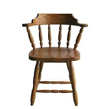 Amish Solid Wood Restaurant Captain's Chair
