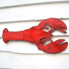 Mini Decorative Lobster Trap by Lobster Decor Sign Wooden Lobster Wall Art Size 18 W X
