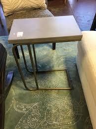 Sawyer C metal base end table