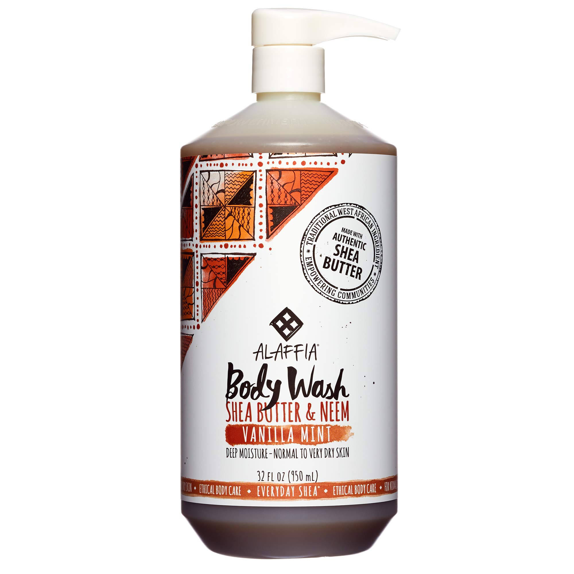 Everyday Shea Moisturizing Body Wash - Vanilla Mint, 32oz
