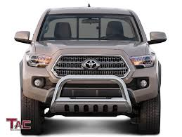TAC Bull Bar For 2016-2018 Toyota Tacoma (Remove Skid Plate- If ... Toyota Truck Accsories Catalog Car Tunes Vehicle Accsories Lift A Shooters Tacoma Becomes A Otographers Base Premium Rear Bumper Fab Fours Amp Research Bedxtender Hd Moto Bed Extender 052015 Covers Hard 2018 Toyota Tacoma Accsories Youtube Raven Install Shop Bushwacker Pocket Style Fender Flares 22015 Supercharged2002 2002 Xtra Cab Specs Photos All Products Pure Parts And For