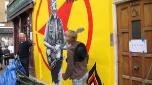 the joe strummer mural london w11 unveiling on june 13th 2013